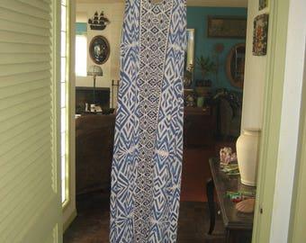 Long Blue and White Summer Beach Dress