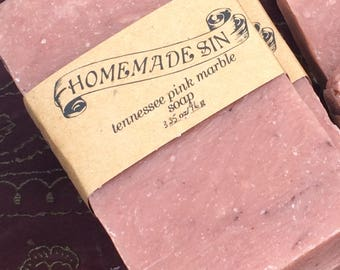 Tennessee Pink Marble Handmade Soap