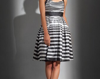 Metallic stripe dress