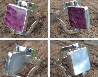 Reversible silver ring