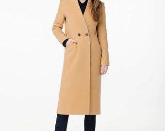 Camel wool coat / Autumn camel coat