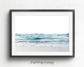 Water Print, Ocean Wall Art, Ocean Waves Print, Ocean Photography, Beach Decor, Ocean Art, Printable Art, Sea Print, Ocean Printable, Waves
