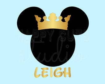 Personalized Princess Crown Minnie Mouse Matching Mother Daughter Mother's Day Birthday Family Disney Iron On Decal Vinyl for Shirt 023