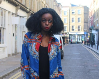 African Clothing - workwear Jacket - Hamed Jacket - Dashiki Jacket - African Wax Print - Festival Jacket - Wax Jacket - Dashiki