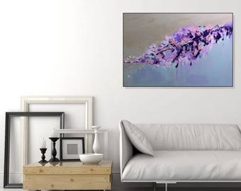 Large Art Abstract Print Purple Wall Art Modern Bedroom Living Room Art Large Purple Artwork