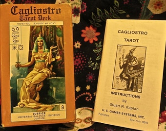 Cagliostro Tarot Deck 1st Edition 1981 made in Italy by Modiano