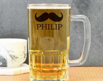 Personalised Moustache Beer Stein
