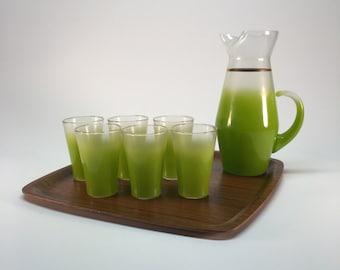 Mid Century Blendo ombré drink set