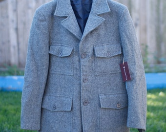 Vintage Wool Peacoat St. Michael Made in the UK Small