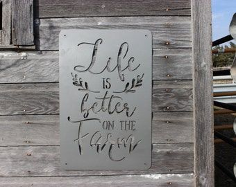 Life is Better on the Farm Metal Wall Decor