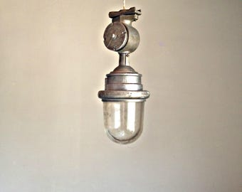 Large factory lamp, Industrial lamp, Ship lamp, Pendant light, Industrial lighting, Loft lighting, Soviet lamp, Soviet Urban outdoor light