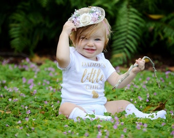 Daddy's Little Chick, Easter Outfit, Baby Easter Outfit, Daddy's Girl, Easter Baby, Baby Girl Easter Outfit, Girls Easter Outfit