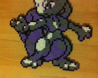 Pixel Art / Perler Beads Pokemon Mewtwo Mew