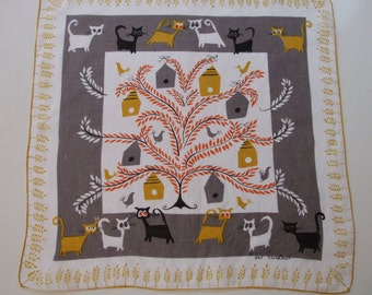 Vintage Pat Prichard Handkerchief Hanky