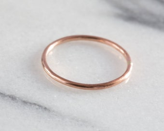 Rose Gold Stacking Ring | Rose Gold Ring | Stacking Rings | Stacking Ring Set | Skinny Ring | Simple Ring | Minimal Ring | Delicate Ring