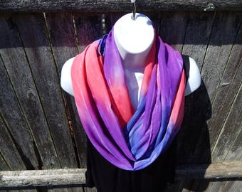 Pink / Purple / Blue Infinity Scarf