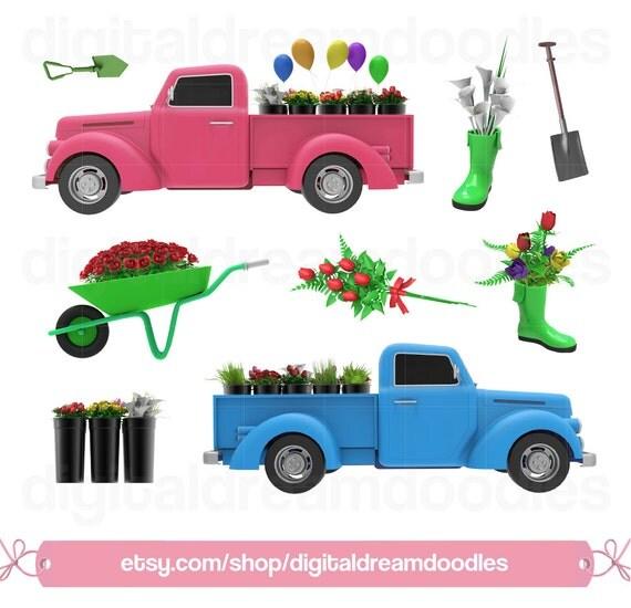 Garden Clipart, Gardening Clip Art, Flower Market Clipart
