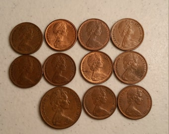 11 australia vintage coins 1966 - 1971  - coin lot cents  - world foreign collector money numismatic a67