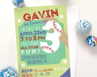 Baseball Invitation, Baseball Invitations Digital, Printable Baseball Invitations