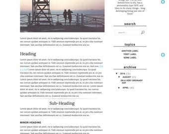Premade Blogger Template Responsive Minimal for Lifestyle, Fashion, Book, Travel, Food Blogger Free Installation - Yosemite