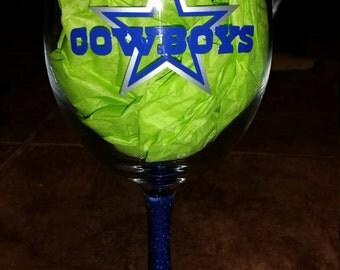 Dallas Cowboys Glittered Stem