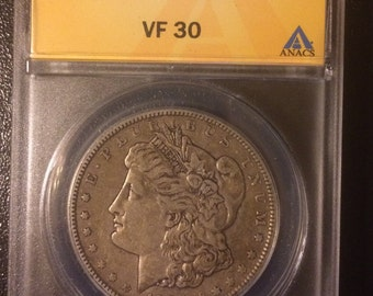 1904 Morgan Silver Dollar - Authenticated - Graded VF 30