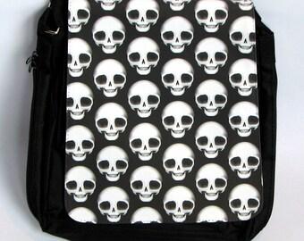 The #DeadPullipSociety Ben-Day Polka Dot Op/Pop-art-skulls Messenger Bag! Quality print on a brilliant bag....