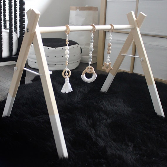 Wooden Baby Activity Gym Wooden Play Gym Wood Play Gym