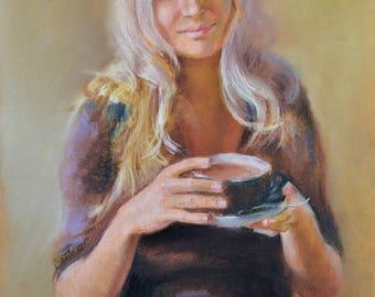 Custom Portrait, Pastel Portrait, Custom Art, Custom Pastel Portrait, Custom Painting, Portrait From Photo