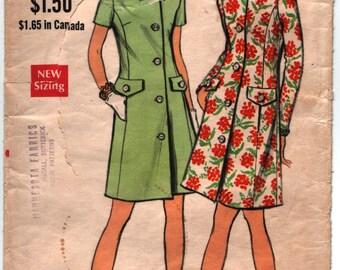 Vintage Pattern Vogue 7738 1960's Coatdress with Princess Seams Size 14