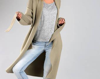 Knitted cardigan / Oversized cardigan / Merino wool sweater / Knitted wrap / Merino wool cardigan / Long cardigan / Wool cardigan