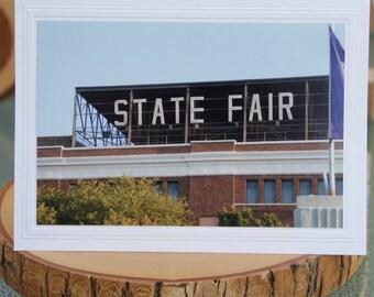 Photo Greeting Card | Handmade Card | Blank Card | Photo Note Card | Photography Card | Blank Photo Card | State Fair Grandstand | Sign