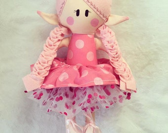 Pixie Doll ~ Rag Doll ~ Fabric Doll ~ First Doll ~ First Birthday Gift for Girls ~ Pixie ~ Soft Doll ~ Baby Doll Gift ~ Fairy Doll ~ Fairy