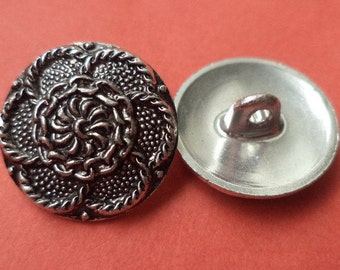 18 mm (4216) metal button buttons 8 METAL BUTTONS silver
