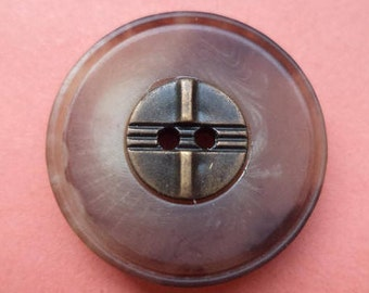 5 Brown buttons 26mm (5803)