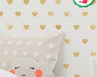 Heart Decal, Heart Wall Decals, Heart Decals, Heart Wall Sticker, Heart Wall Stickers, Heart Sticker, Gold Heart Decals, Hearts Wall Decals