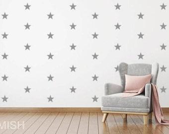 star wall decal , star wall decals, nursery wall, star wall stickers, star wall decor, wall decal