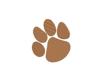 Tiger paw embroidery design - 5 SIZE - Mini paw fill stitch embroidery pattern files - Machine embroidery design - INSTANT DOWNLOAD