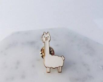 Llama pin; alpaca pin; fluffy llama; animal pins