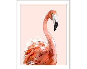 Flamingo Print. Flamingo Gifts. Flamingo Decor. Flamingo Art by Green Lili. Digital Art Wall Art. Pink Interiors.