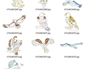 Native-Eagles. ( 10 Machine Embroidery Designs from ATW )