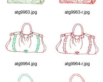 Colorline-Purses ( 10 Machine Embroidery Designs from ATW ) XYZ17E