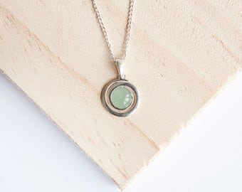 Caroline Silver Spiral Pendant, Choice of Gemstone, Sterling Silver, Silver Swirl Pendant, Silver Spiral Necklace, Silver Swirl Necklace