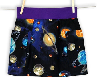 Space Unisex Pocket Skirt