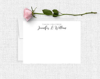 Wedding Thank You Cards, Personalized Wedding Stationery, Couples Stationary, Thank You Cards,  Bridal Shower, Engagement Gift For Her, WS07