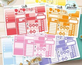 Planner Sampler Stickers, Planner Sampler, Sample Stickers, Planner Stickers, Erin Condren, Kikki-K, Happy Planner [EV-SA]
