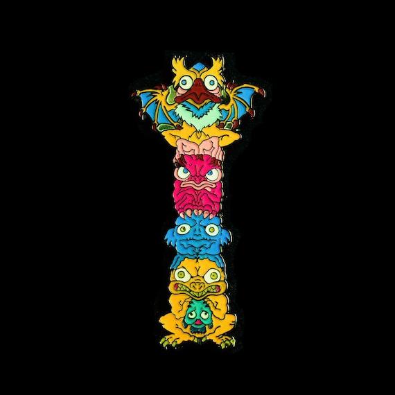 Monster Totem Lapel Pin (full color - MON101)