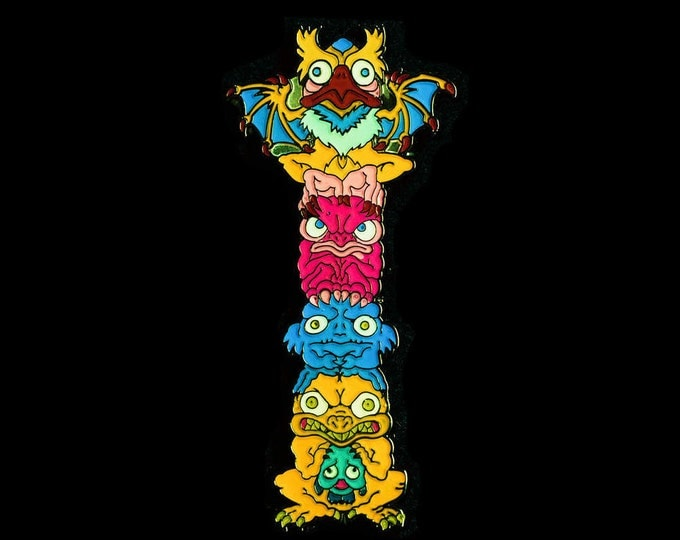 Monster Totem Lapel Pin (full color - MON101)