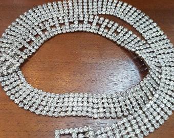 Bright vintage  rhinestone belt.