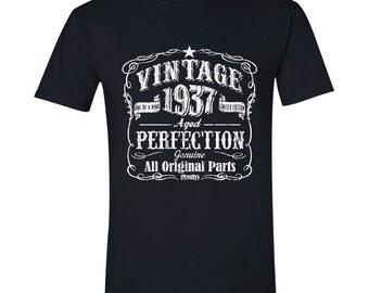 80th Birthday, 1937 Birthday, 1937 Legend. Men's T-Shirt, 80th Birthday Gift, 80th Birthday Idea, 80 Birthday Present, 80 years BLACK 1937
